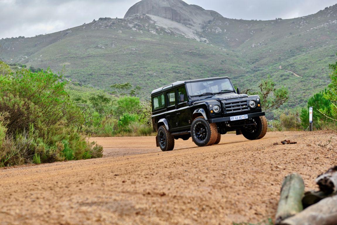 Black Classic Land Rover