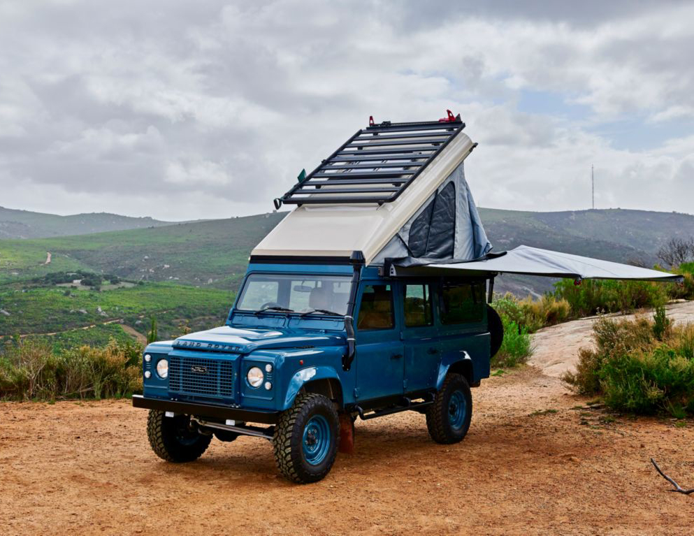 blue custom defender for sale