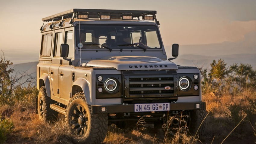The Etosha Ghost, a custom build Defender , ready for adventure.