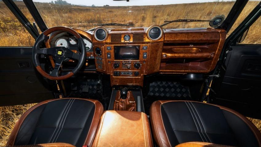 custom defender interior