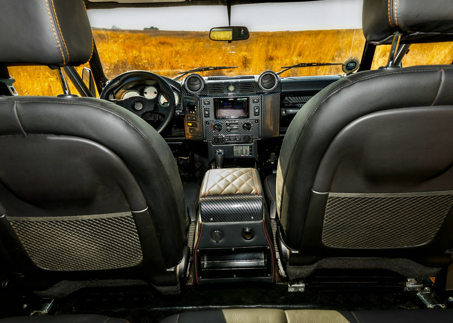 African Tusker custom Classic Overland defender interior